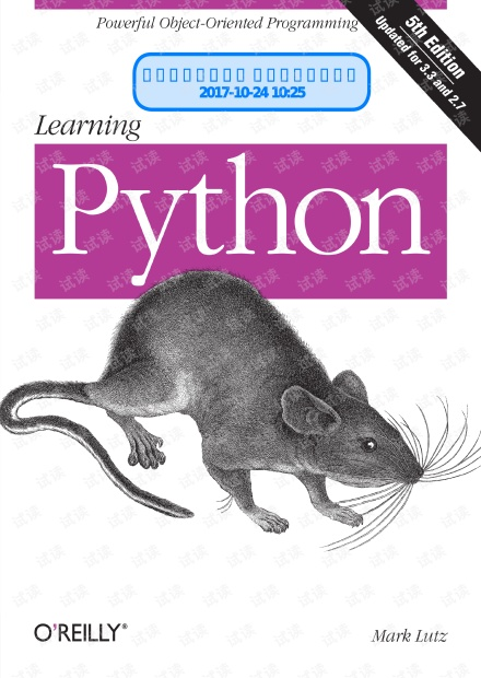 Learning Python 5th Edition Mark Lutz