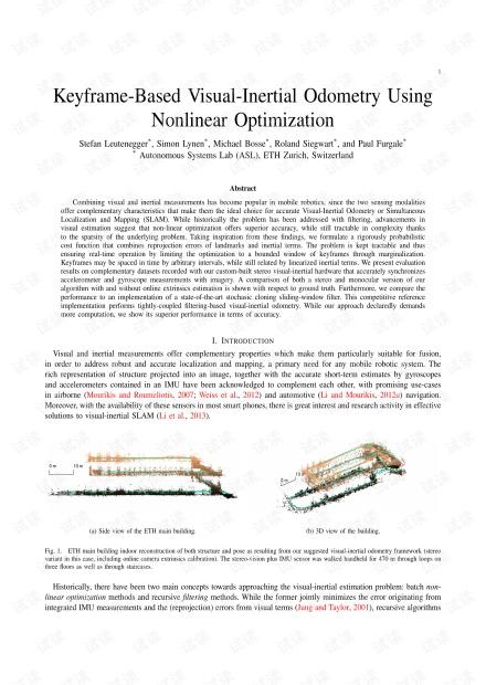 Keyframe-Based Visual-Inertial Odometry Using Nonlinear Optimization.pdf