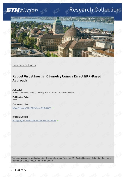 Robust Visual Inertial Odometry Using a Direct EKF-Based Approach.pdf
