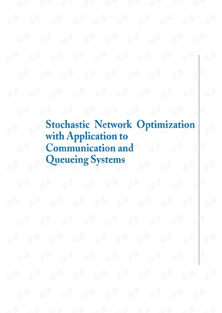 Stochastic Network Optimization Communication and Queueing Systems