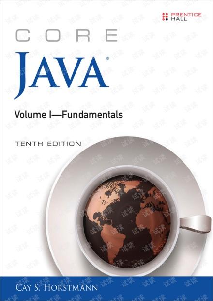 java核心(卷一)第十版(无水印pdf)
