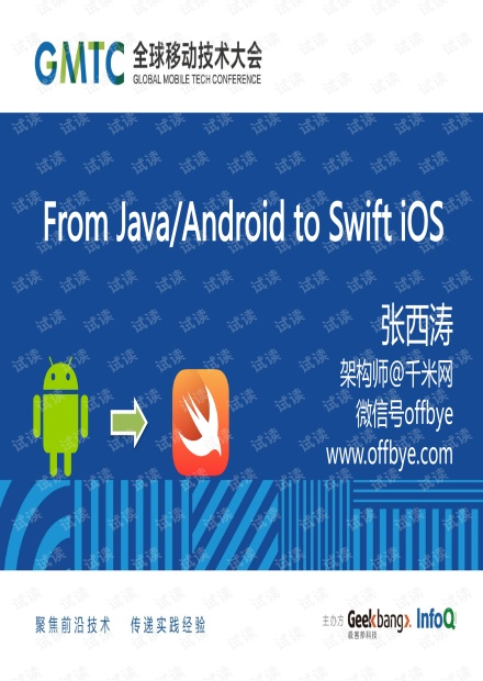 From Java、Android to Swift iOS