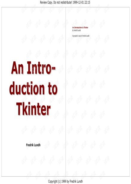 tkinter高清文档