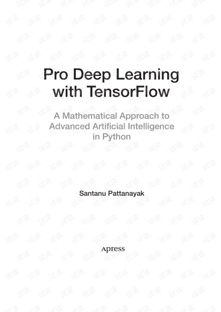 Pro Deep Learning with TensorFlow.