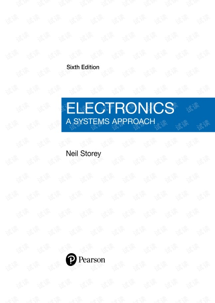 Electronics A Systems Approach 6th Edition by Neil Storey- 2017