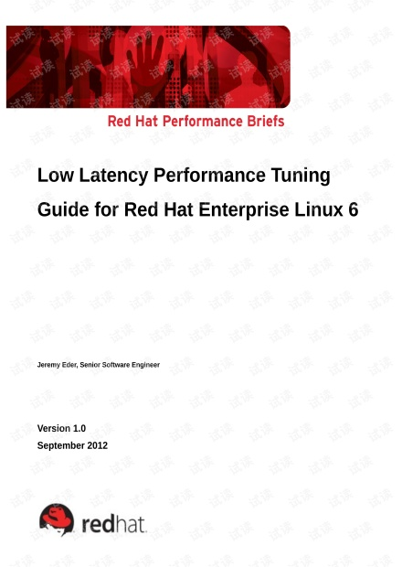 Low Latency Performance Tuning Guide for Red Hat Enterprise Linux 6