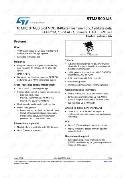 STM8S001官方手册
