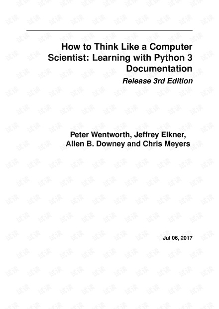 How to Think Like a Computer Scientist: Learning with Python 3