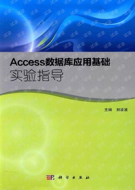 Access数据库应用基础实验指导_超高清pdf