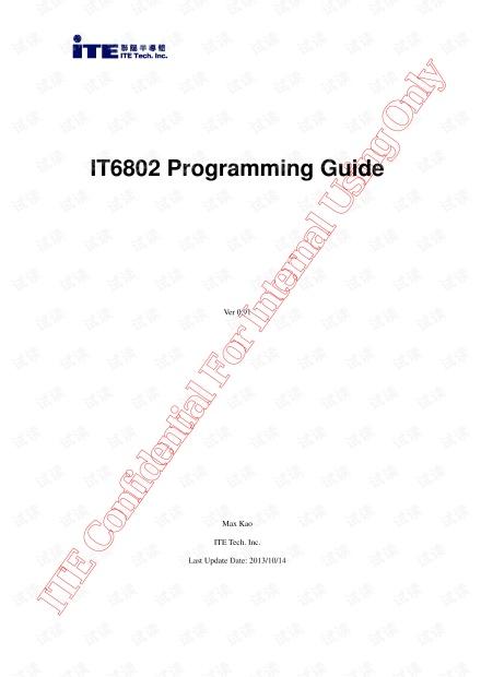 IT6802 Programming Guide