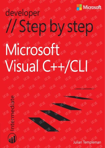 Microsoft Visual C++/CLI Step by Step