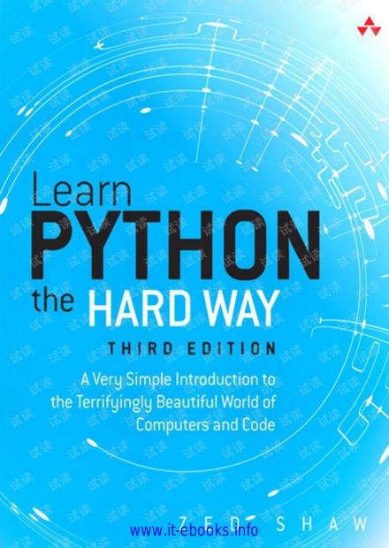 Learn Python the Hard Way(高清.英文.书签.第三版).pdf