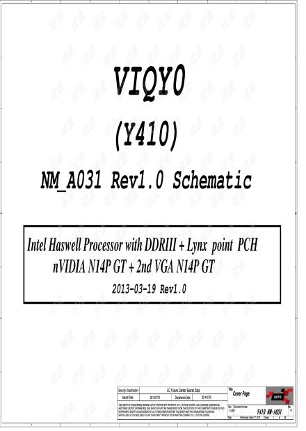 LENOVO Y410P NM-A031 主板电路原理图