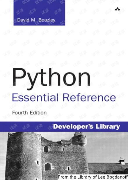 Python程序员案头必备:《Python参考手册 (第4版)》(高清.书签.英文完整版)