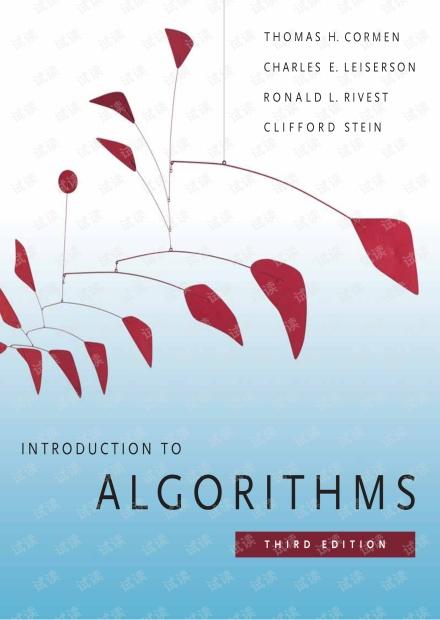 Introduction to Algorithms 3rd  原版pdf by C.L.R.S