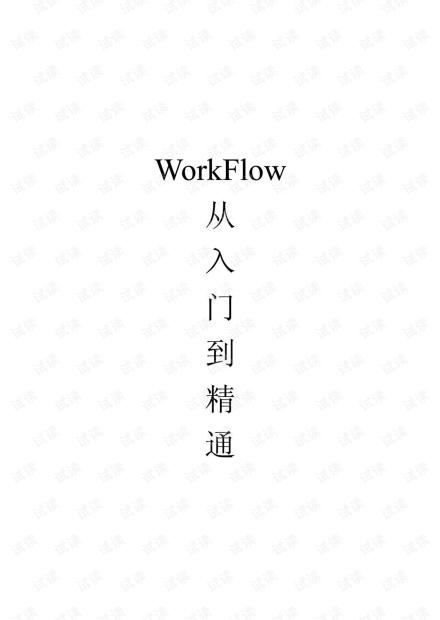 WF从入门到精通.pdf