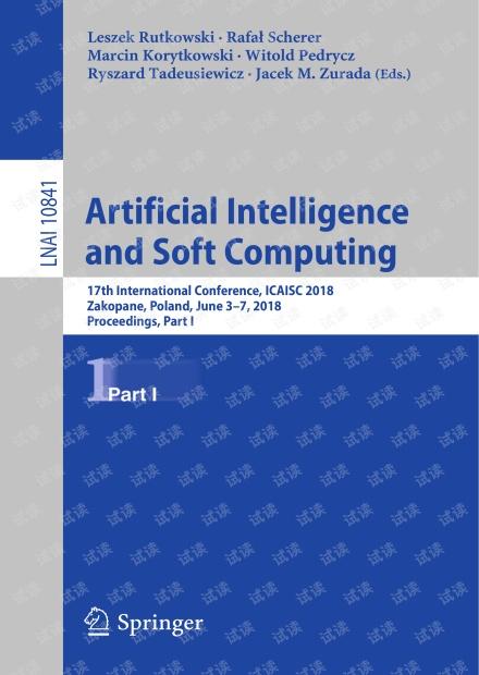 Artificial Intelligence and Soft Computing 17th International 无水印原版pdf