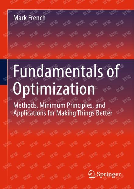 【2018新书】优化基础(Fundamentals of Optimization)
