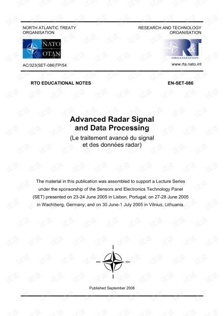 Advanced Radar Signal and Data Processing