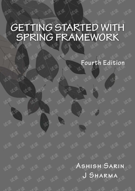 Getting started with Spring Framework: covers Spring 5(PDF)