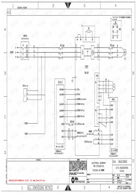 电梯电气原理图
