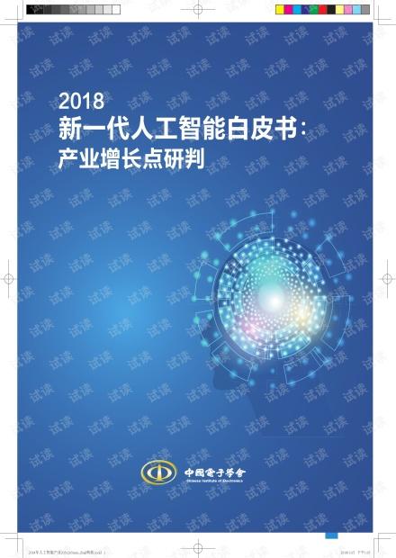 2018年人工智能AI白皮书