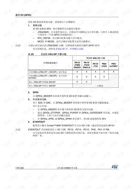 STM32F4xx中文参考手册(复用功能)