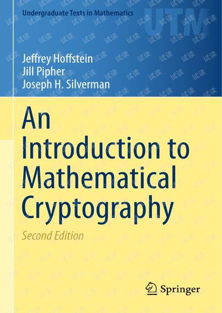 密码学英文教材An Introduction to Mathematical Cryptography