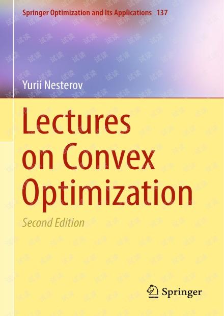 Lectures on Convex Optimization Yurii Nesterov