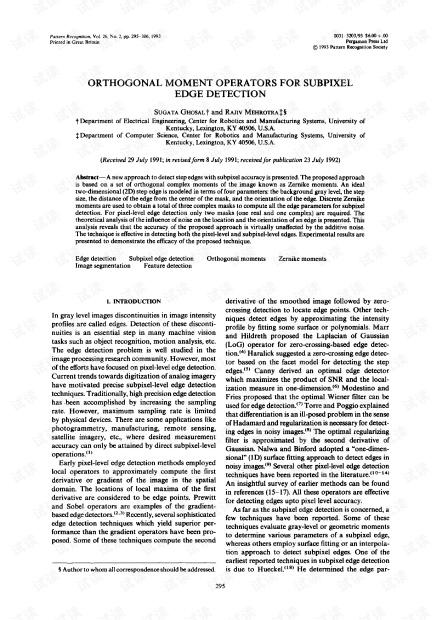 Zernike正交矩的亚像素边缘检测原文