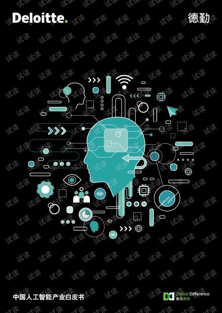 2018年中国人工智能产业白皮书