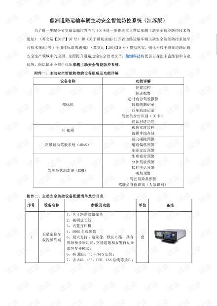 鼎洲道路运输车辆主动安全智能防控系统介绍