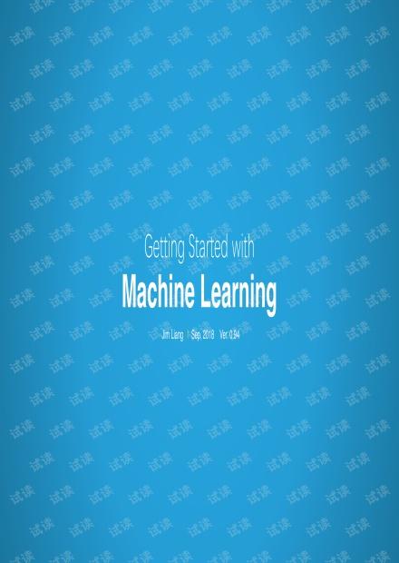 梁劲-机器学习笔记-全面简单Getting Started With MachineLearning (all in one)_部分1