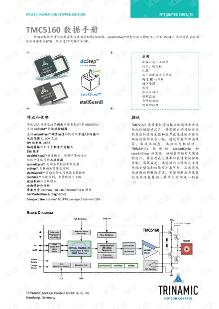 TMC5160智能步进电机驱动控制芯片