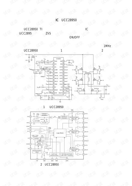 中文UCC28950相移全桥控制设计