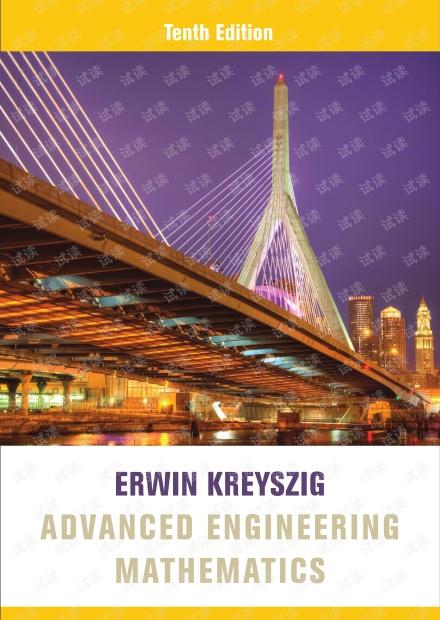Advanced Engineering Mathematics (10th Edition)  (Erwin Kreyszig)