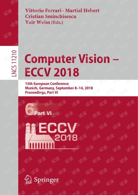 Computer Vision ECCV2018 Part VI