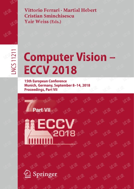 Computer Vision ECCV2018 Part VII
