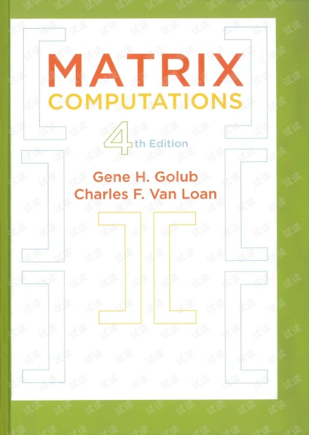 图灵原版数学统计学系列33 矩阵计算(英文版)Matrix Computations, 4th