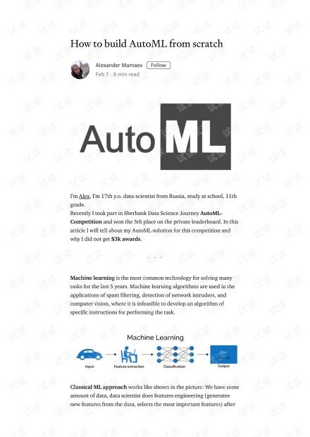 How to build AutoML from scratch – Alexander Mamaev – Medium.pdf
