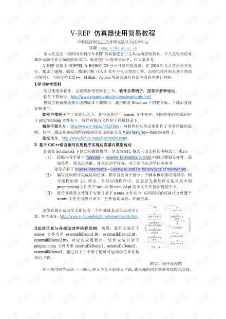 V-REP 仿真器使用入门简易教程.pdf