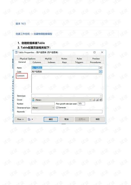 powerDesigner的常用配置及使用技巧 + idea注释模板配置(1).pdf