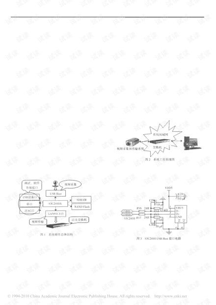 基于S3C2410硬件平台和嵌入式WinCE操作系统的USB视频采集与传输系统的总体设计方案.pdf