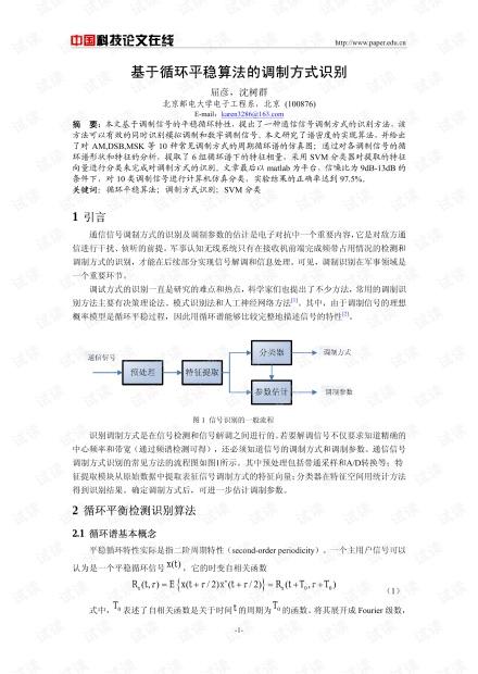 论文研究-基于循环平稳算法的调制方式识别 .pdf