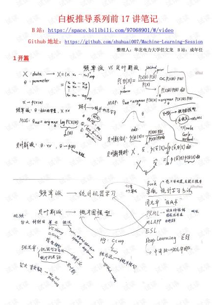 机器学习-白板推导系列-前17讲笔记.pdf