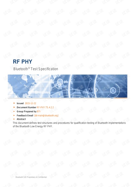 Bluetooth® Test Specification_RF-PHY.TS.4.2.2