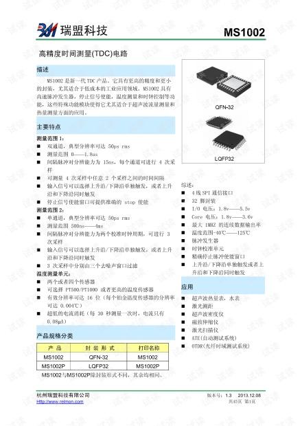 进口芯片替代芯片汇总-MS1002.pdf