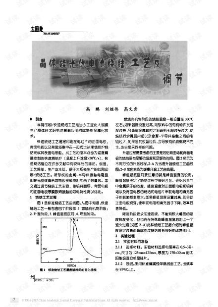 晶体硅光伏电池烧结工艺.pdf