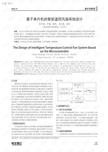 基于单片机的智能温控风扇系统设计.pdf