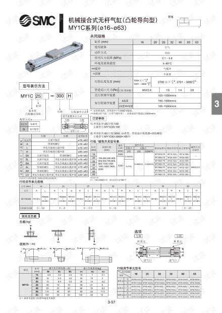 MY1C机械接合式无杆气缸(凸轮导向型).pdf.pdf